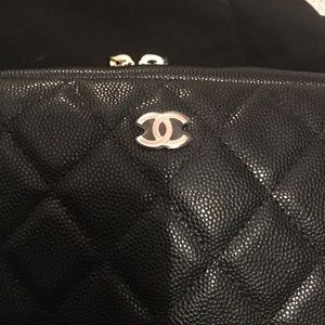 Chanel O Case Black Caviar Leather New with Tags